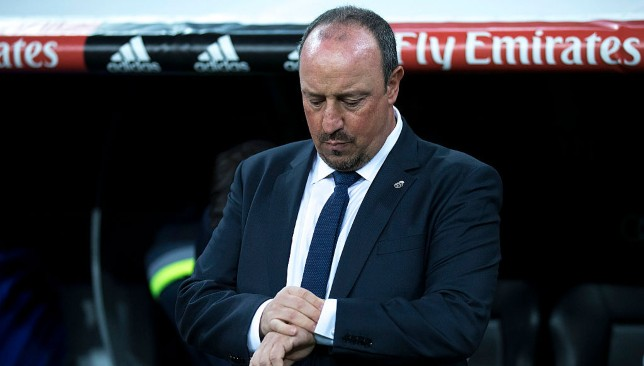 Rafael Benitez during the defeat to Barcelona in 2015