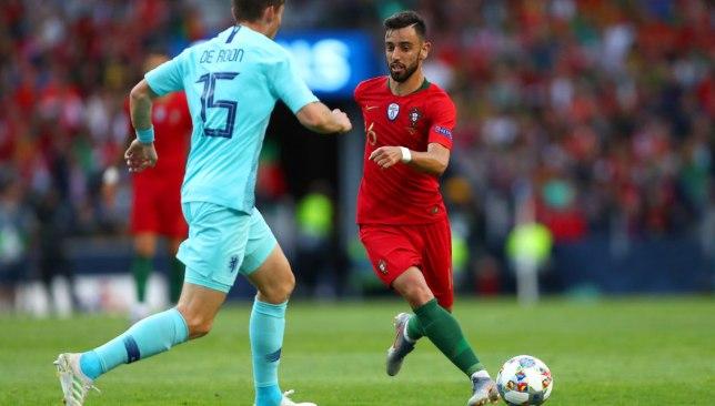 Bruno Fernandes in action against the Netherlands