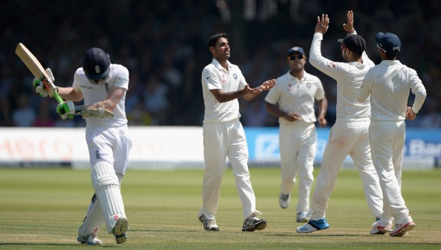 Bhuvneshar led India to victory in the Lord's Test in 2014.