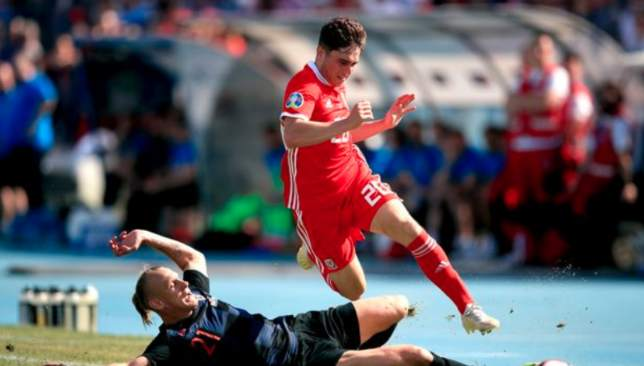 New Man United signing Daniel James looked menacing at times for Wales.