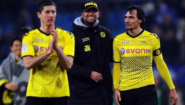 Hummels during his Dortmund days with Jurgen Klopp.