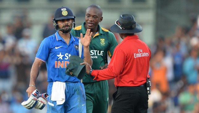 Kohli and Rabada both love confrontation.