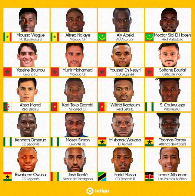 LaLiga players at 2019 AFCON (1)