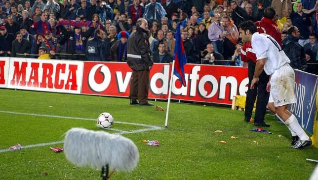 From hero to traitor: Luis Figo.