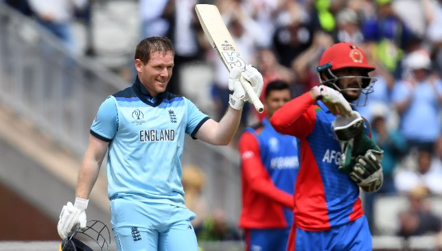 Eoin Morgan broke several records in a 148-run blitz.
