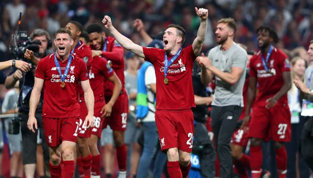 Robertson played a key role in Liverpool's Champions League triumph.