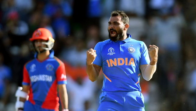 Shami has eight wickets in two games.
