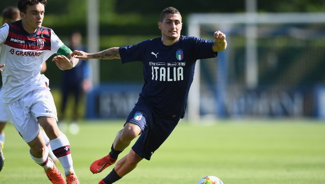 Verratti and Italy are up against Greece next.