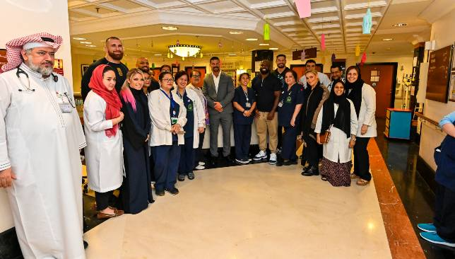 WWE Superstars paid a visit to the King Faisal Hospital