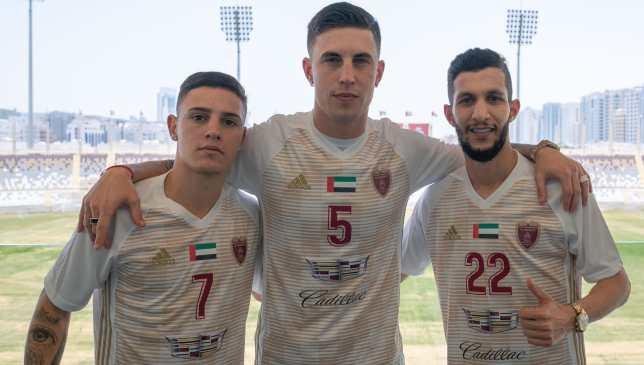 Nicolas Milesi (c), Al Hussain Saleh (r) and Eduardo Voltan da Silva (l) have joined Al Wahda.