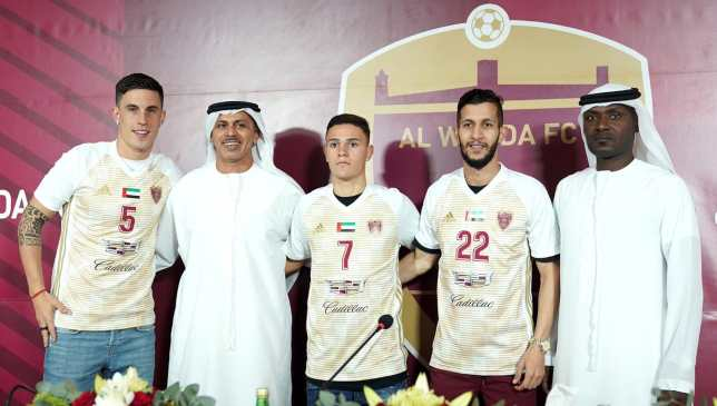 Milesi (l), Da Silva (c) and Saleh (2nd r) have all signed for Wahda.