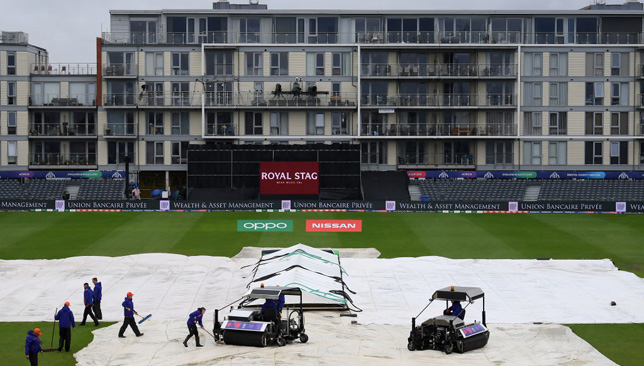 The Bangladesh-Sri Lanka game was washed out.