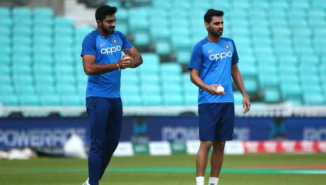 Shankar (l) could bat at No4 for India.