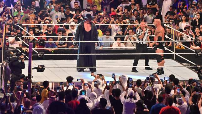 The Undertaker versus Goldberg was highly anticipated