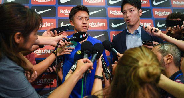 Image result for Hiroki Abe Barcelona training