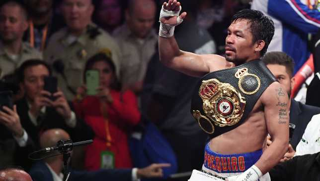 Who's the Man: Pacquiao is an eight-weight world champion