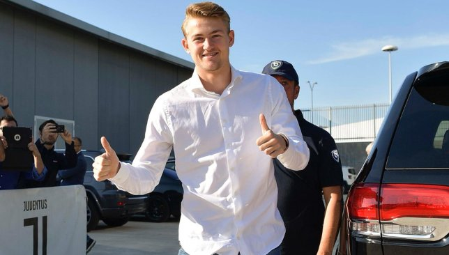 Matthijs de Ligt swapped for the Bianconeri last week Photo credit: [@juventusfc/Twitter]