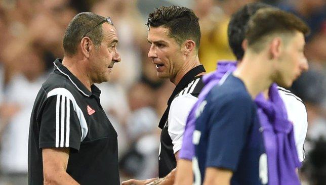 Maurizio Sarri and Cristiano Ronaldo
