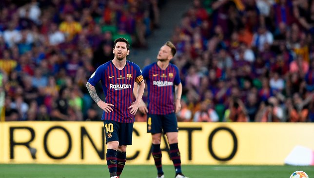 It was a dismal end to the season for Messi with Barca as well.