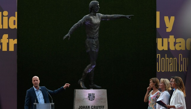 Image result for CLUB FOOTBALL LEGACY FC BARCELONA UNVEIL STATUE IN HONOUR OF LEGEND CRUYFF