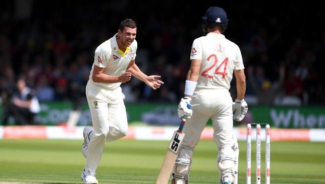 Hazlewood was the pick of Aussie bowlers.