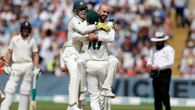 Lyon got the better of Root in the second innings at Edgbaston.