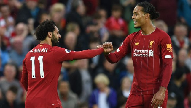 Mohamed Salah and Virgil van Dijk