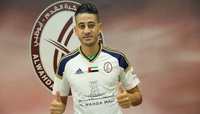 Batna on his Wahda unveiling two summers ago - the club claim he remains under contract.