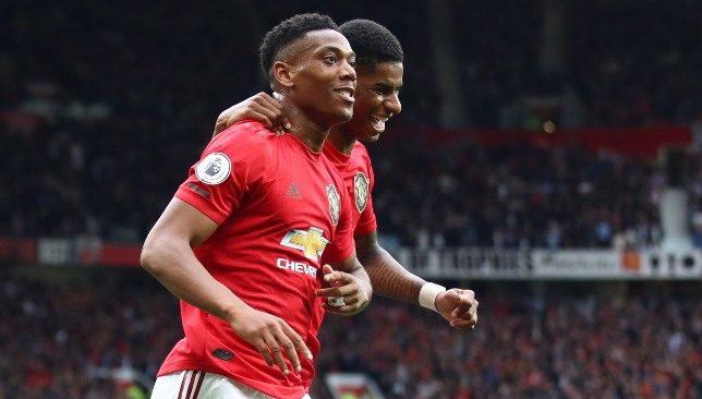 Martial and Rashford are two of only three strikers at the club - the other is Mason Greenwood, 17.