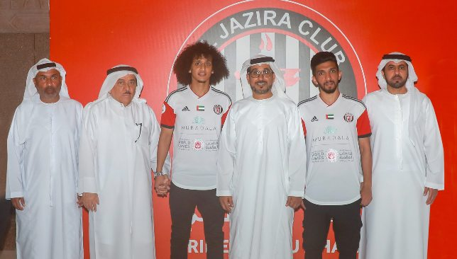 Omar Abdulrahman (3rd l) has returned to the AGL this summer with Jazira.