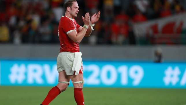 Alun Wyn Jones led Wales to victory on his 130th appearance.