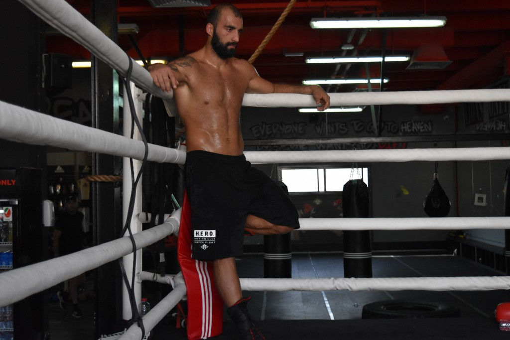 Fighting stance: Bayat fights this weekend in Scotland