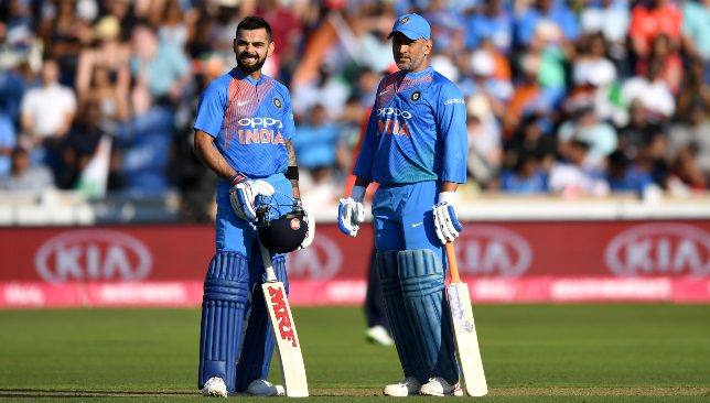 Virat Kohli and MS Dhoni.