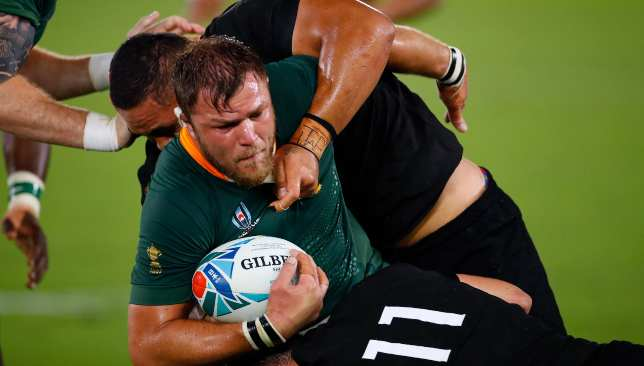 Duane Vermeulen huffed and puffed for the Boks.