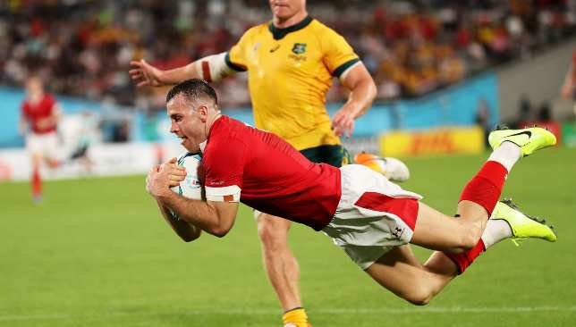 Australia roared back after Gareth Davies' try had seen Wales lead 23-8 at the break.