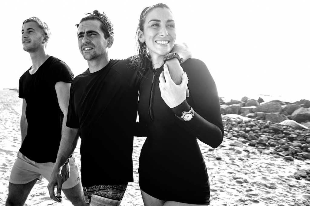 Water sport enthusiasts: The crew from Kite 'N' Surf