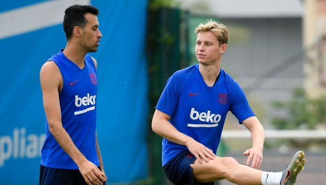 Sergio Busquets and Frenkie de Jong
