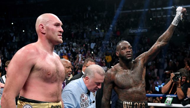 Fury's bout with Wilder ended in a controversial draw.