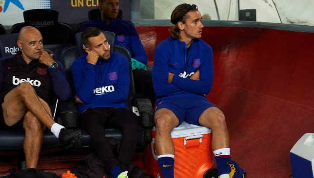 Griezmann had to contend for a place on the bench in the Sevilla clash.
