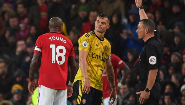 Ashley Young and Granit Xhaka
