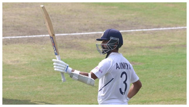 Rahane scored his 11th Test ton.