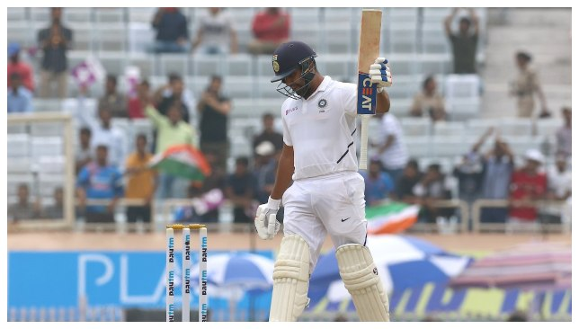 Rohit scored his 6th Test Ton & reached 2000 Test runs. Image - (BCCI/Twitter)