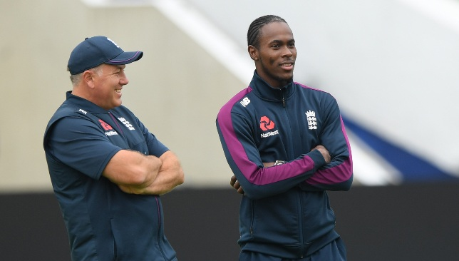 Chris Silverwood (l) has been given the coveted England job.
