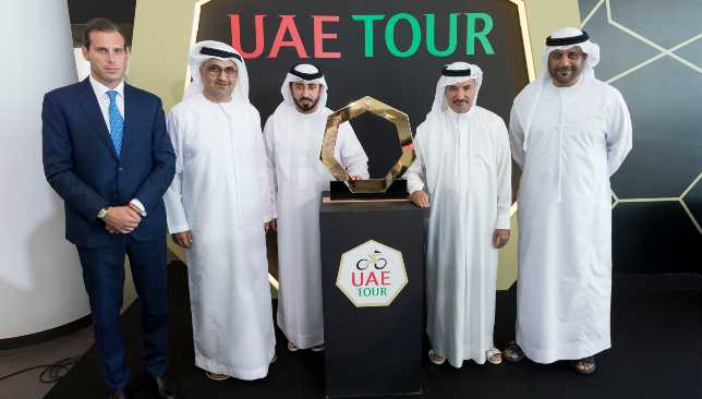 Fabrizio D'Amico (l), pictured (from l-r) with Eisa Al Hezami, Saeed Hareb, Osama Al Shafar and Aref Al Awani.