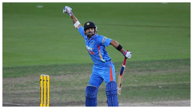 Kohli exults after the win in 2013. Image Credit - ICC/Twiiter