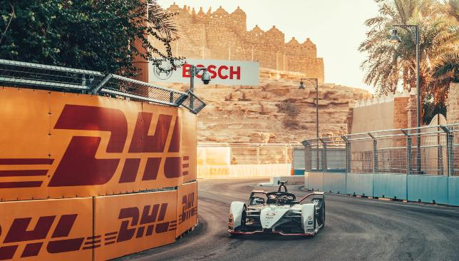 Lotterer in action at the picturesque but dusty Riyadh street circuit.