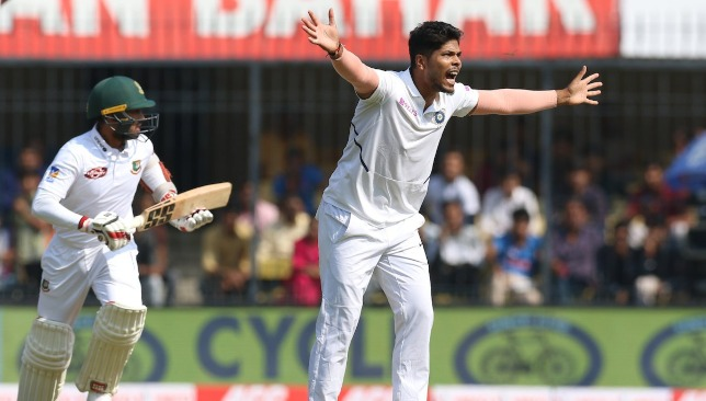 Two wickets for Umesh. Image credit - BCCI/Twitter.