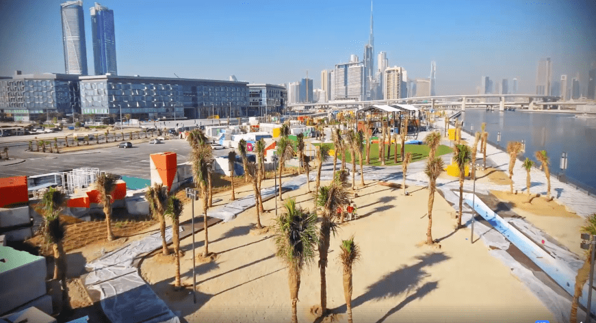 Centre stage: The tournament is being held at Dubai Design District