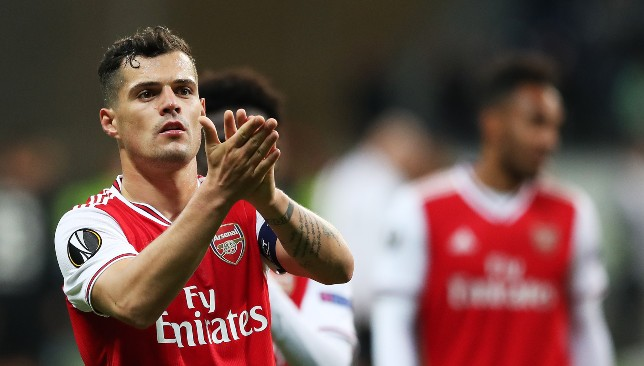 Granit Xhaka has been taken out of the firing line.