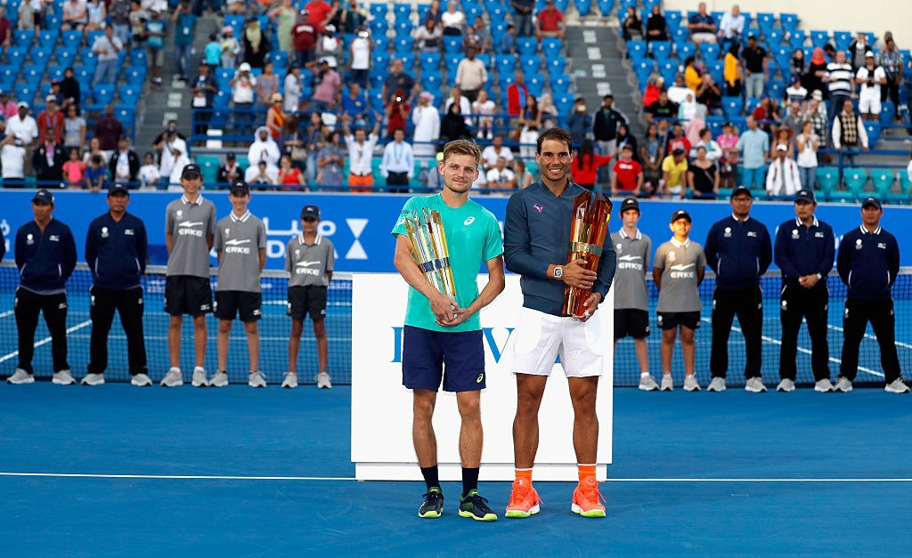 Finalists: Runner up David Goffin and Champion Rafeal Nadal